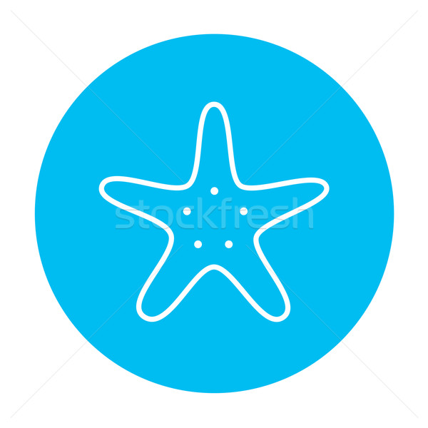 Starfish line icon. Stock photo © RAStudio