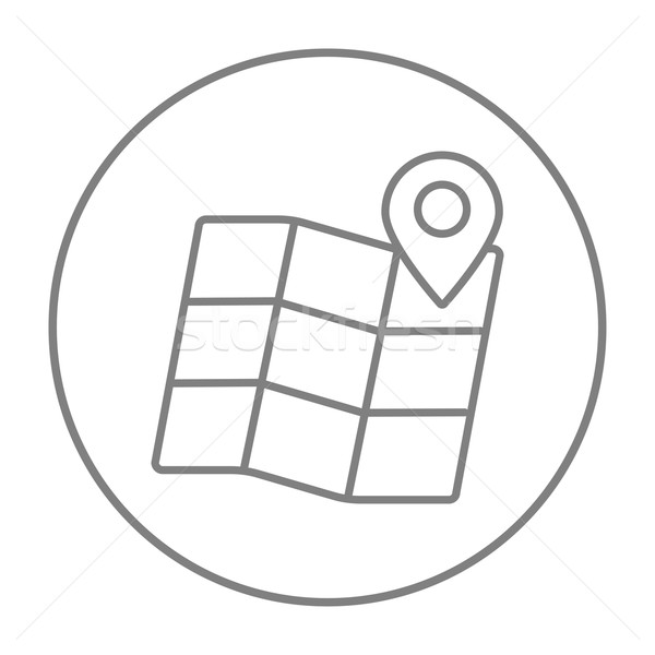 Harita hat ikon web hareketli infographics Stok fotoğraf © RAStudio