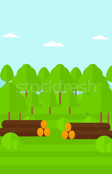 Erdő vektor terv illusztráció függőleges elrendezés Stock fotó © RAStudio