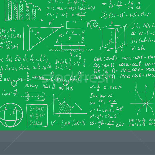 Background of white blackboard with mathematical equations. Stock photo © RAStudio