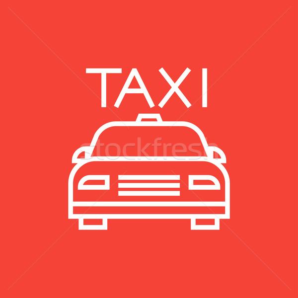 такси линия икона уголки веб мобильных Сток-фото © RAStudio