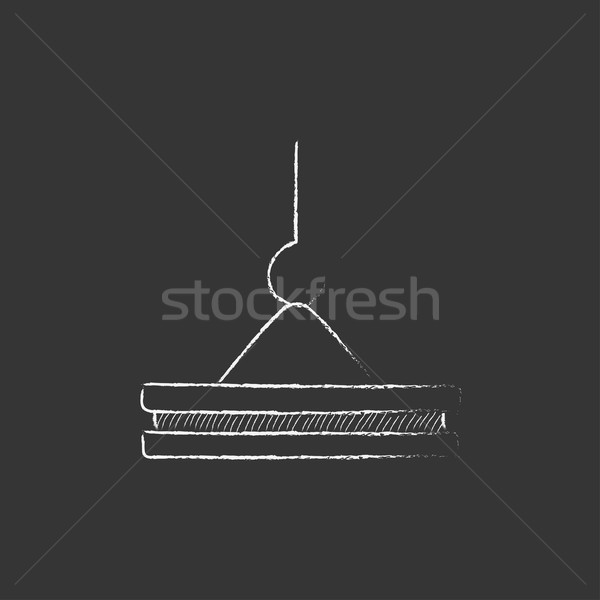 Crane hook. Drawn in chalk icon. Stock photo © RAStudio