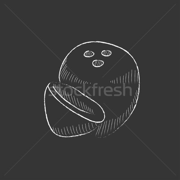 Coconut. Drawn in chalk icon. Stock photo © RAStudio