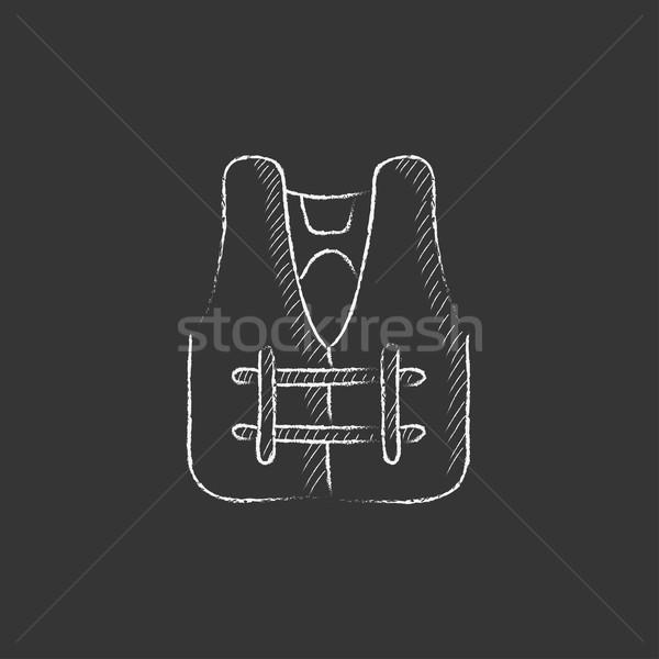 élet mellény rajzolt kréta ikon kézzel rajzolt Stock fotó © RAStudio