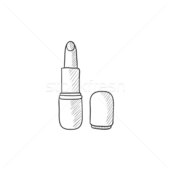 Lipstick sketch icon. Stock photo © RAStudio
