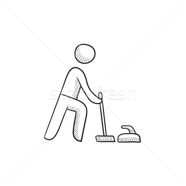 Curling sketch icon. Stock photo © RAStudio