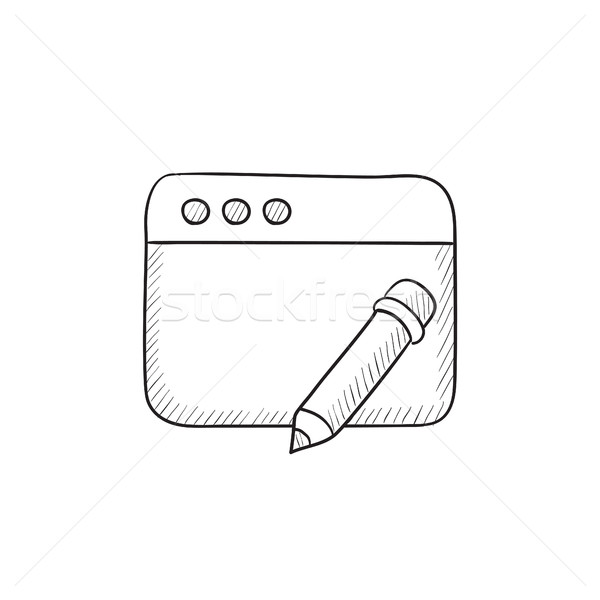 Digital art sketch icon. Stock photo © RAStudio