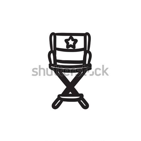 Direktor Stuhl Skizze Symbol Vektor isoliert Stock foto © RAStudio
