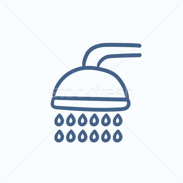 Shower sketch icon. Stock photo © RAStudio
