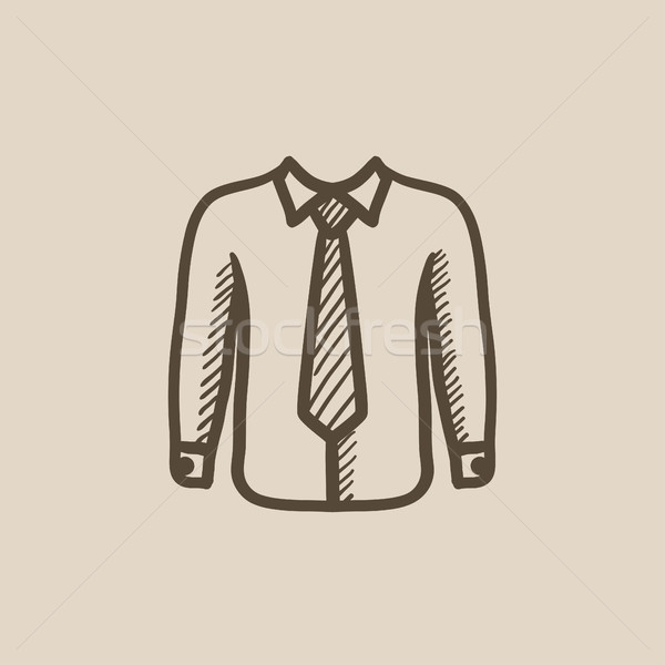 Camisa empate boceto icono vector aislado Foto stock © RAStudio