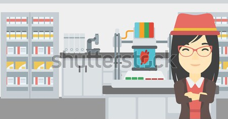 Television set broadcasting interview. Stock photo © RAStudio
