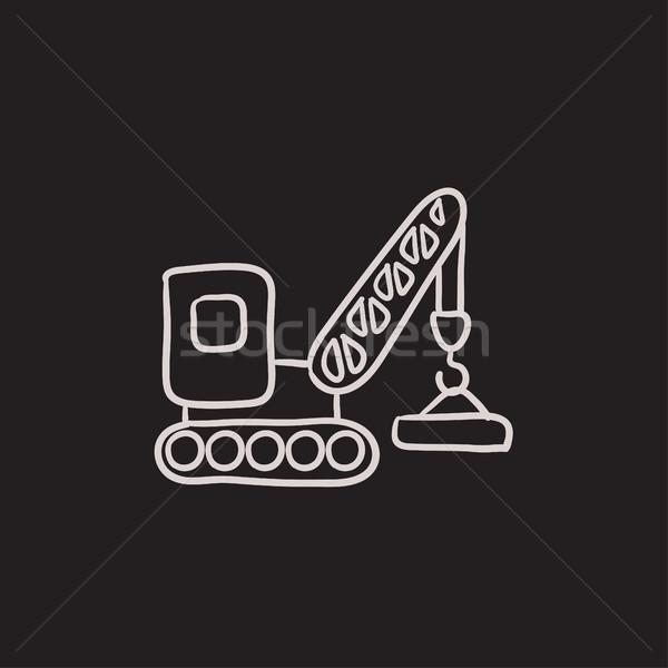 クレーン スケッチ アイコン ベクトル 孤立した ストックフォト © RAStudio