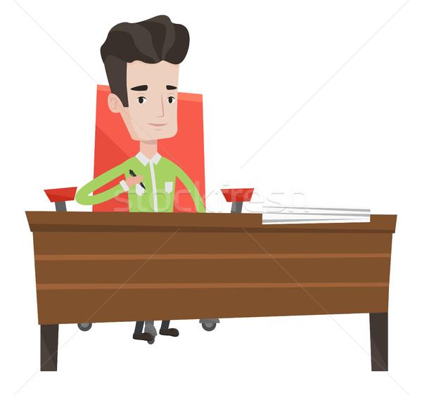 Assinatura negócio contrato empresário escritório homem Foto stock © RAStudio