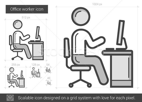 Office worker line icon. Stock photo © RAStudio