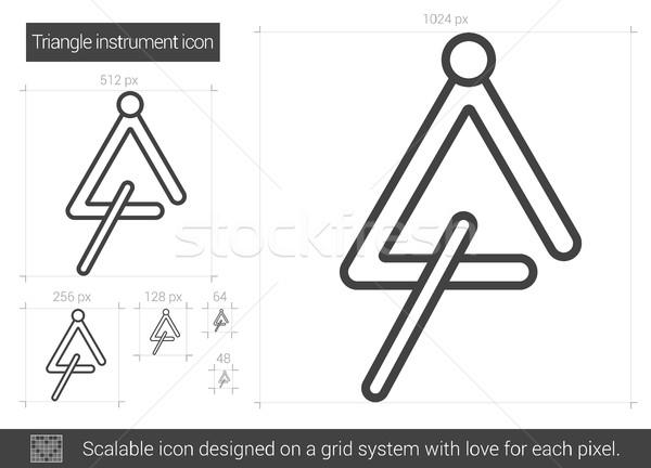 Triangle instrument line icon. Stock photo © RAStudio