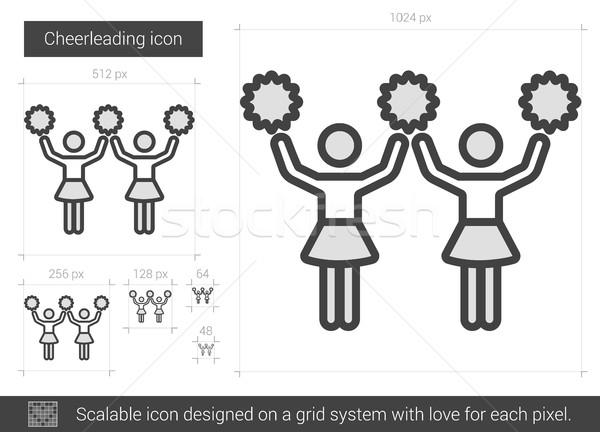 Cheerleading line icon. Stock photo © RAStudio