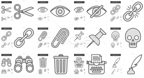 Stock photo: Content Edition line icon set.