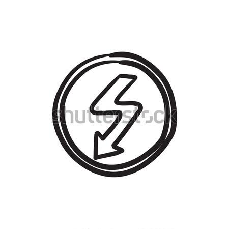 Lightning arrow downward sketch icon. Stock photo © RAStudio