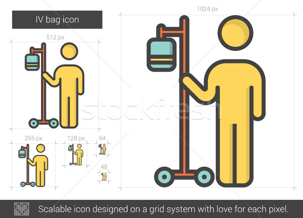 Stock photo: IV bag line icon.