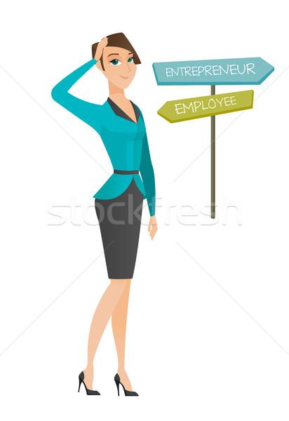 путать женщину карьеру путь молодые Сток-фото © RAStudio