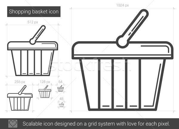 Shopping basket line icon. Stock photo © RAStudio