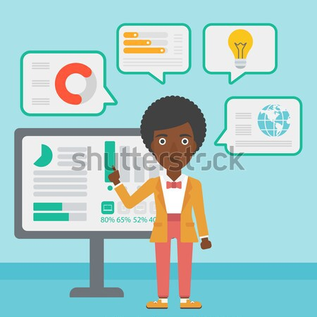 Stock photo: African businessman having lots of work to do.
