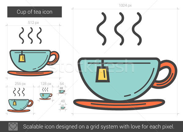 Cup of tea line icon. Stock photo © RAStudio
