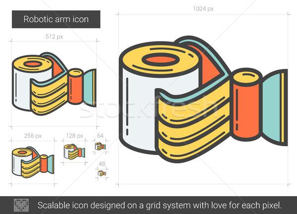 Robotic arm line icon. Stock photo © RAStudio