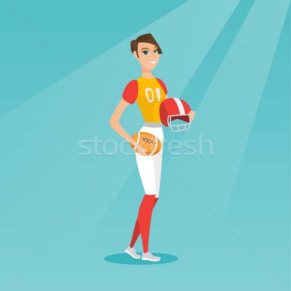 Young caucasian female rugby player. Stock photo © RAStudio