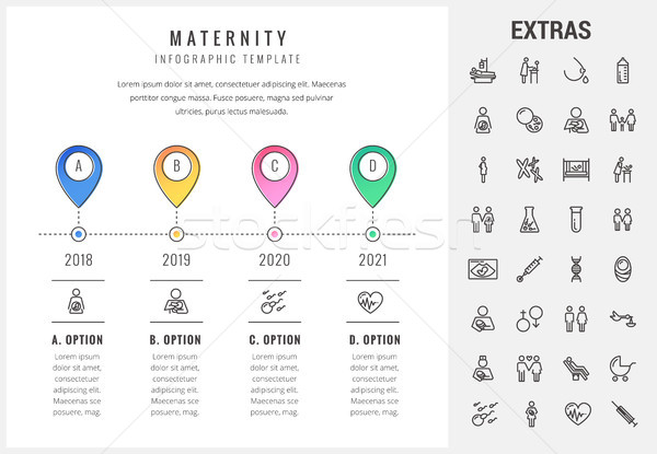 материнство шаблон Элементы иконки timeline Сток-фото © RAStudio
