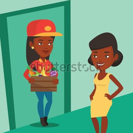 Livraison courrier client africaine ligne Photo stock © RAStudio