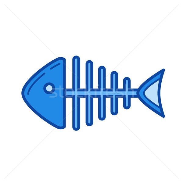 Fishbone line icon. Stock photo © RAStudio
