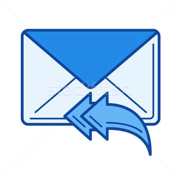 Reply to all line icon. Stock photo © RAStudio