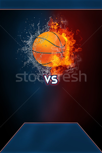 Baloncesto deportes torneo moderna anunciante plantilla Foto stock © RAStudio