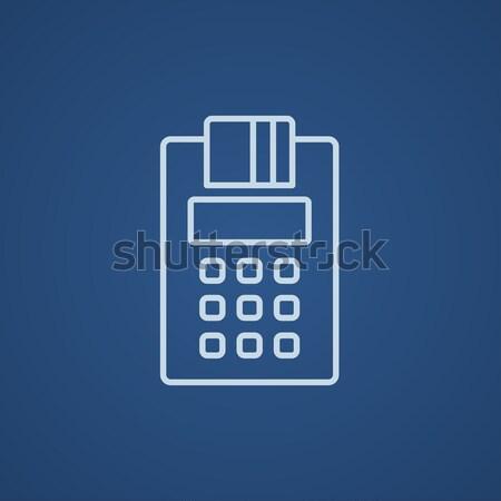 Credit Card Machine roll thin line icon Stock photo © RAStudio