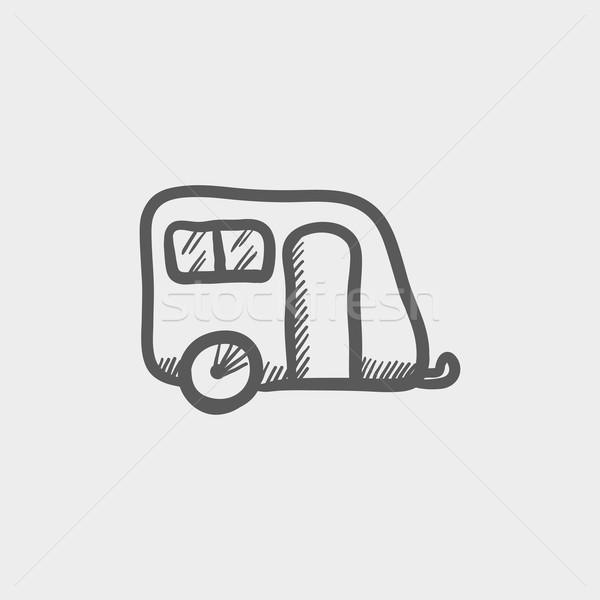 Pulling cab sketch icon Stock photo © RAStudio