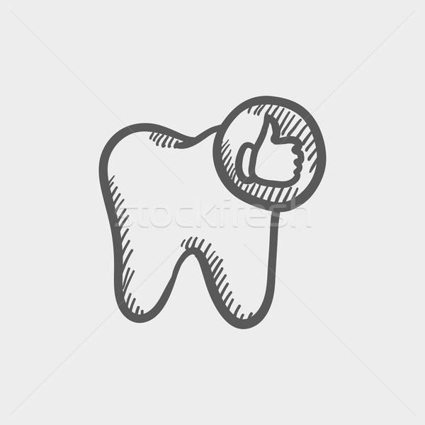 Healthy tooth sketch icon Stock photo © RAStudio