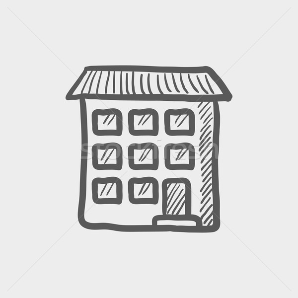 Condominium building sketch icon Stock photo © RAStudio