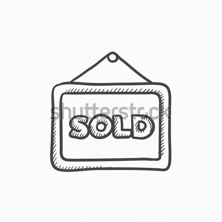 Konzol ikon rajzolt kréta kézzel rajzolt iskolatábla Stock fotó © RAStudio