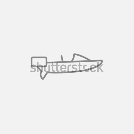 Motorboat icon drawn in chalk. Stock photo © RAStudio