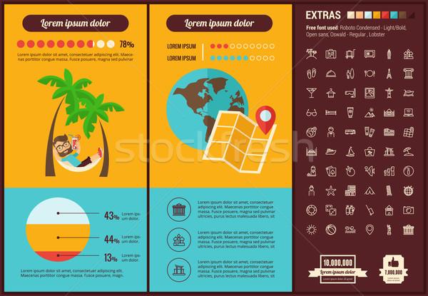 Travel flat design Infographic Template Stock photo © RAStudio