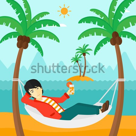 Man chilling in hammock. Stock photo © RAStudio