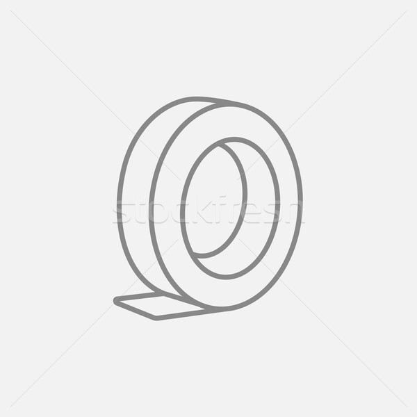Roll of adhesive tape line icon. Stock photo © RAStudio