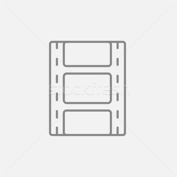 Negatieve lijn icon web mobiele infographics Stockfoto © RAStudio
