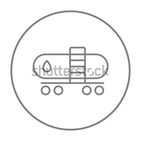 Yağ tank hat ikon web hareketli Stok fotoğraf © RAStudio