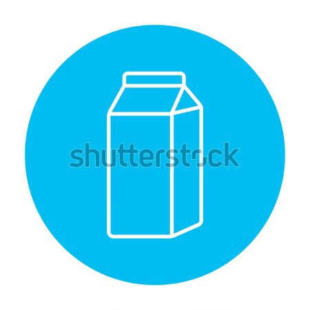 Packaged dairy product line icon. Stock photo © RAStudio