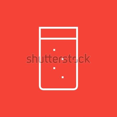 стекла воды линия икона веб мобильных Сток-фото © RAStudio