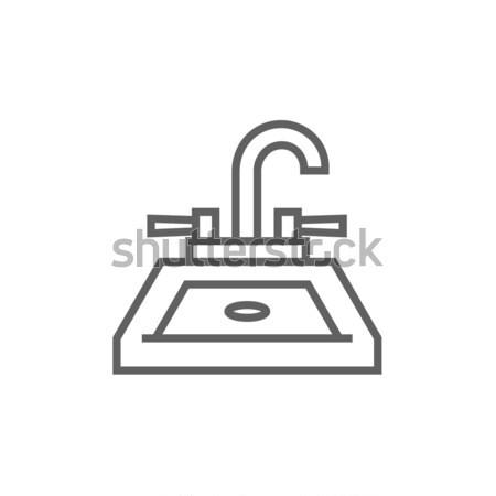 Sink line icon. Stock photo © RAStudio