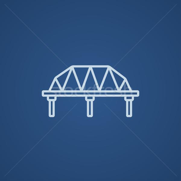 Rail way bridge line icon. Stock photo © RAStudio