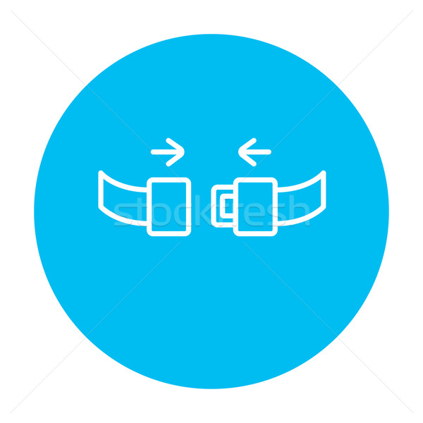 Seat belt line icon. Stock photo © RAStudio